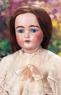 """Large German Bisque Child,192,by Kammer and Reinhardt  28"""" (71 cm.) Marks: 192 19. Comments: Kammer and Reinhardt,circa 1892. Value Points: rarer model with fine clarity of large eyes,very choice bisque with rich patina,early body."""