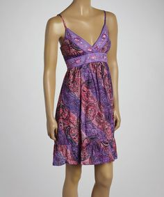 Look what I found on #zulily! Pink Paisley V-Neck Dress by Pink Apple #zulilyfinds