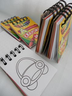 Mini Coloring Book Free PDF Printable Old Crayon Box Fronts To