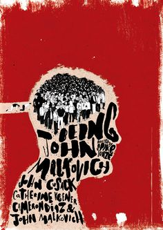 Being John Malkovich poster design by Peter Strain
