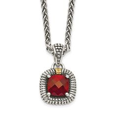 Quality Gold Garnet Necklace, Pendant Necklace, Garnet Stone, Red Garnet, Gold Material, Accent Colors, Jewelry Watches, Sterling Silver, Type 1