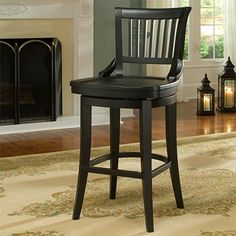 Bar stool, black, costco, birch, swivel, front-door delivery, $249