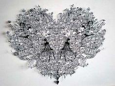 Intricate Hand Cut Paper Art by Aoyama Hina