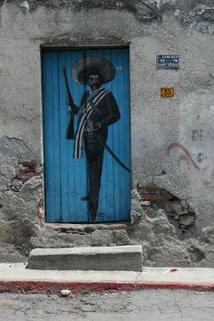 Zapata. México.  street art 000