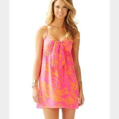 Lilly Pulitzer Charlotte Dress In Pop Pink Seaesta