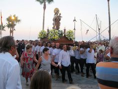 On the evening of July 16 the fishermen and sailors patron Virgen del Carmen is being celebrated in most coastal towns and fishing villages in Spain and South America. This is from La Cala de Mijas (Málaga), Spain.