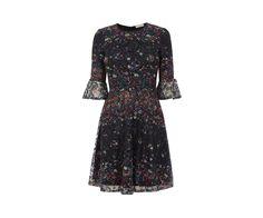 Oasis, DAISY PRINT DRESS Black