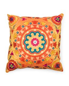 Made In India 20x20 Embellished Suzani Pillow