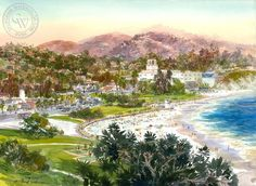 Lag Town, art by David Solomon – California Watercolor