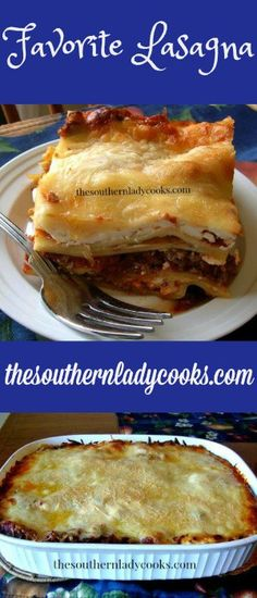 Our favorite lasagna recipe. Just add a nice green salad and some Italian garlic bread to this recipe for a great meal anytime. Best Grill Recipes, Grilling Recipes, Meat Recipes, Pasta Recipes, Cooking Recipes, Casserole Recipes, Recipies, Southern Recipes, Pastries