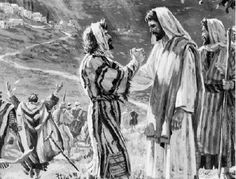 """November 11th - Luke 17:11-19: As Jesus continued his journey to Jerusalem, he traveled through Samaria and Galilee. As he was entering a village, ten lepers met him. They stood at a distance from him and raised their voice, saying, """"Jesus, Master! Have pity on us!"""" And when he saw them, he said, """"Go show yourselves to the priests."""" As they were going they were cleansed."""