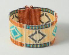African Basket Weaving Bead Loom Bracelet
