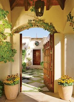Spanish Hacienda - The gate into Entry Courtyard