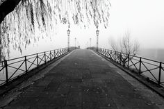 OLD MAN ON A OLD BRIDGE