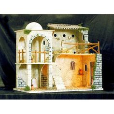 Establo-Corral Miniature Houses, Bible Stories, Xmas, Christmas, Play Houses, Portal, Nativity, House Plans, House Design