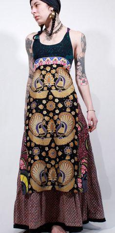 Peacock batik Indonesian gypsy boho tribal ethnic by ChopstixWaits