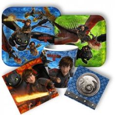 How to Train Your Dragon 2 Deluxe Party Packs Dragon Birthday Parties, Dragon Party, Dragon 2, Toothless Toy, Discount Party Supplies, Special Kids, Third Birthday, Party Packs, How To Train Your Dragon