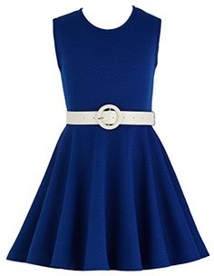 Wonder Girl Skater Dress Big Girls' Jacquard Fabric Pleather Belt Set 10 ROYAL BLUE Wonder Girl http://www.amazon.com/dp/B011J6RU0G/ref=cm_sw_r_pi_dp_FhUNwb0JH94TG