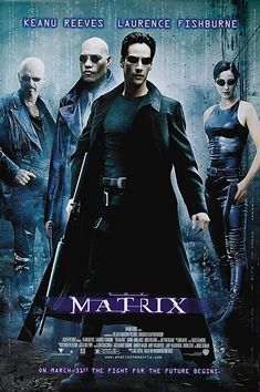 Keanu Reeves, Laurence Fishburne, Joe Pantoliano, and Carrie-Anne Moss in The Matrix Iconic 90s Movies, Classic 90s Movies, Sci Fi Movies, Good Movies, Foreign Movies, Indie Movies, Movie Tv, Comedy Movies, Keanu Reeves