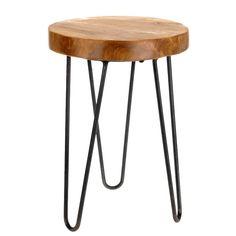 teak holz tisch sitzhocker hocker teakholz beistelltisch tisch fusshocker 42cm in mobel wohnen