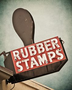 Rubber Stamps ~ Vintage Neon Sign