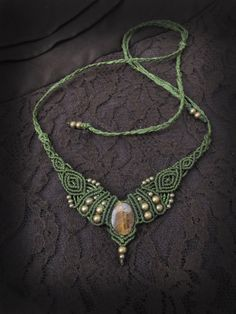 Hey, I found this really awesome Etsy listing at https://www.etsy.com/listing/163198145/macrame-necklace-and-tiara-with-original