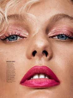 Patricia van der Vliet charms in pink on the February 2018 cover of ELLE Slovenia. Photographed by Caleb & Gladys, the blonde beauty wears a draped dre