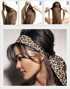 Easy rockabilly hair style with a bouffant and head scarf.:: Rockabilly Hair:: Pin Up Hair:: Retro Hairstyles:: Rockabilly Hair How To Pin Up Hair, Love Hair, Great Hair, Retro Hairstyles, Scarf Hairstyles, Casual Hairstyles, Rockabilly Style, Rockabilly Hair Tutorials, Short Hairstyles