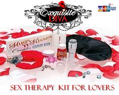ExquisiteDiva.com knows that therapy has never been so much fun! Kit Includes: Furry Love Cuffs, Satin Rose Petals, Mini-Mite Massager & Heads, Lover's Coupon Book, Mega-Stretch Cockring, Satin Love Mask, Edible Body Paint, Flavored Warming Massage Lotion, 2 Hot Wax Candles.$21.90. http://exquisitediva.com/Bondage/Bondage-Kits/Sex-Therapy-Kit-For-Lovers/sku-PD209600?a=Exquisite_Diva