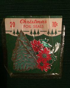 Vintage Lot 1950s Christmas Stickers Seals Die Cut Tags 70ct Original Packaging   eBay
