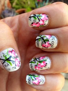 Love the nails awesome wish I cold have nails like that
