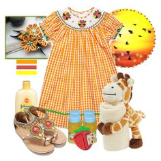 """""""Orange"""" by airin-flowers ❤ liked on Polyvore featuring Johnson's Baby, Monsoon, Gerber and CHICCO"""