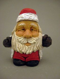 This is one my cutest Santas yet, He is short, but not lacking in personality. It is painted with watered down acrylics, and has a small amount of detailed wood burning on it. The measurments are approximately: 3 5/8 inches tall, 3 1/8 inches wide, and 2 3/8 inches deep. It is carved from northern basswood. All of my carvings are signed and dated. I have more that are carved by the same pattern, I can email pictures if needed. Payment is Pay Pal or money order. Money order...