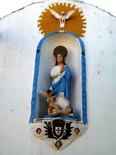 The Virgin Mary ...in blue!