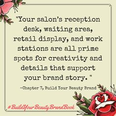 """From the book, """"Build Your Beauty Brand: Find Your Niche, Captivate Your Clients, And Grow The Salon Business Of Your Dreams"""", the gutsy girl's guide to D.I.Y. branding for anyone in the beauty industry. http://www.amazon.com/dp/B018TQXIM8"""