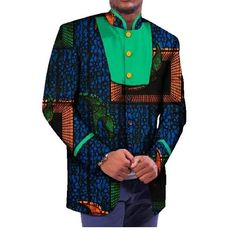 Welcom to our store,Wishing you a happy shopping!Package:Other accessories not include Material:Cotton blendSize details: US Small=China US Medium=China US Large=China African Print Fashion, Fashion Prints, Dashiki, Jacket Style, Happy Shopping, Mens Fashion, Blazer, Men Clothes, Sleeves