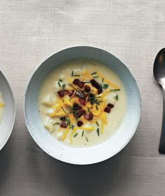 Loaded Bacon-Potato Soup With Cheddar and Chives