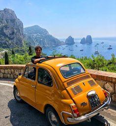 822 Likes, 9 Comments - Amalfi Coast Italy Vacation, Italy Travel, Naples, Fiat 500 Pop, Capri Island, Beau Site, Fiat Cars, Milan, Fiat Abarth