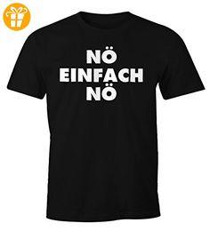 Lustiges Herren T-Shirt Nö einfach Nö Fun Spruch Shirt Moonworks® schwarz 4XL - Shirts mit spruch (*Partner-Link)