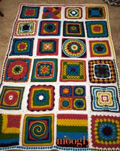 The 2015 Moogly Afghan Crochet-Along - all done!