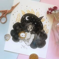 Desenhos Halloween, Witch Drawing, Mini Canvas Art, Kawaii Doodles, Kpop Drawings, Pretty Drawings, Witch Art, T Art, Art Sketchbook