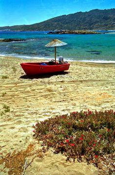 Manganari beach in Ios, Cyclades Islands_ Greece