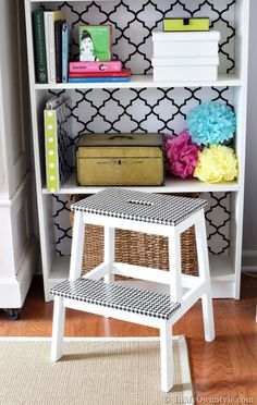 Houndstooth Step Stool