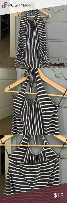 Girls Old Navy Dress- L/G 10-12 Beautiful navy and white striped summer dress. Good for a cover up or dress, it has an open back and is by Old Navy. Size- 10-12 Old Navy Dresses Casual