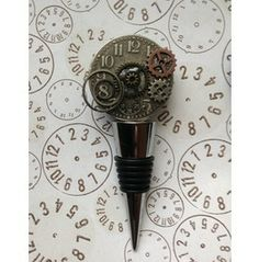 Steampunk Inspired Stainless Steel Wine Stopper