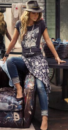 Rock 'n' Roll Style ☆ Ralph Lauren Denim & Supply Spring 2014 Casual bohemian chilled style