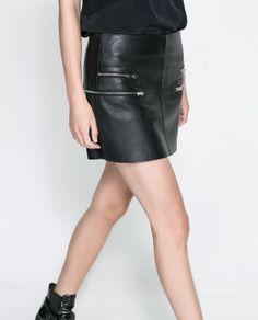 Image 5 of MINI SKIRT WITH ZIPS from Zara
