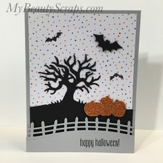 Spooky Fun Card Class with Video - for September 2016!  Every month I hold a stamp class in my craft room based on a different stamp set. It is ...