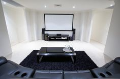 Basement conversion cinema room