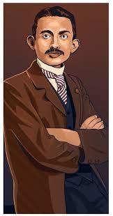 Image result for gandhi young illustration